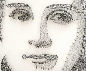 Thread & Nail Portraits by Pamela Campagna