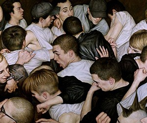 Amazing Mosh Pit Paintings by Dan Witz