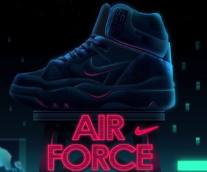 Sneakers illustrated in Neon Colors