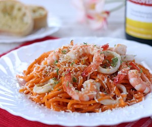 Aligue and Prawn Pasta