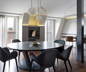 Penthouse in Milan renovated by Mario Mazzer