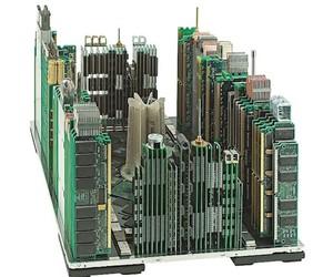 A Modern Metropolis Made of Computer Parts