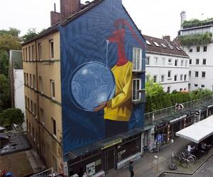 New Mural by Street Artist Artez in Hamburg