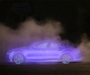 "Audi kreiert ""Billboards"" aus Wasserdampf"