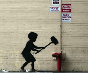 """Banksy – """"Better Out Than In"""" in New York City"""
