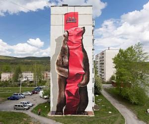 Mural by Street Artists NEVERCREW in Satka/Russia