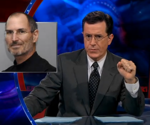 Steve Jobs Tribute by Colbert