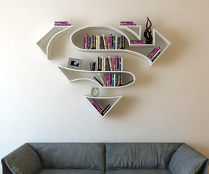 Bookshelves Shaped Like Superhero Logos