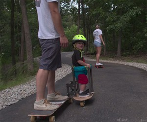 Family outing on the Longboard