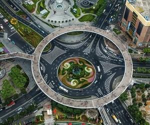 Roundabout Pedestrian Bridge: China