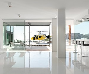 Helipad at Majorca's new Villa Chameleon