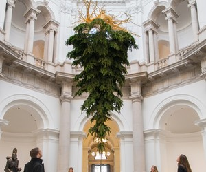 Upside-down Christmas Tree at Tate Britain