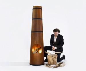 SmokeStack outdoor heater by Frederik Roijé
