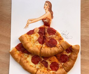 Creative Fashion Sketches Around Foods