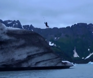 Kiteboarding and Standup-Paddling in Alaska: Grind