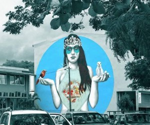 New Mural by Street Artist  Fin Dac in Tahiti