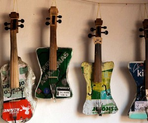 Instruments made from recycled rubbish