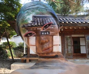 Optical Illusions Created with Face-Paintings