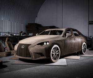 Lexus Creates Working Car Made of Cardboard