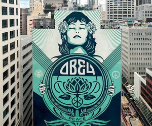 """Peace Waratah"" by Shepard Fairey in Sydney"