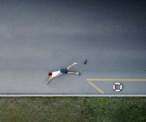 Playful Aerial Shots of Funny Scenes