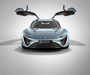 Quant E-Sportlimousine runs purely on salt water