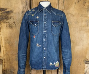 REMI RELIEF DENIM WESTERN HIPPIE SHIRT