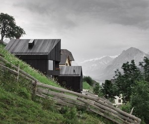 Black Wooden Home in Enneberg, Italy