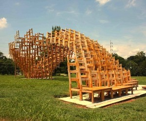 400 Chair Art Installation
