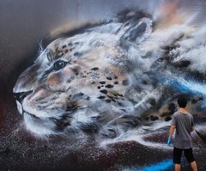 Streetart: Splatter Ink Cheetah Mural