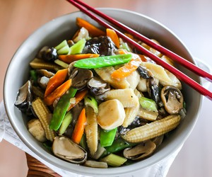 Stir Fried Mushrooms and Vegetables