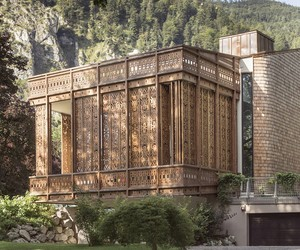 Amazing Screen Facade of Villa by the Lake
