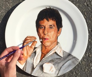 Portraits of Movie Characters Painted on Plates