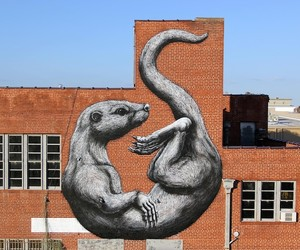 The Otter – A New Mural by Street Artist ROA