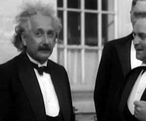 Rare Footage from Albert Einstein in a Video