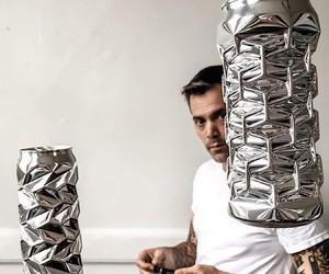 Noah Deledda transforms old cans into art