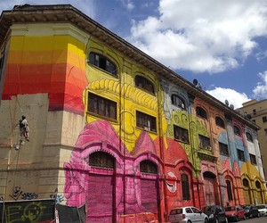 New Massive Mural by Blu in Rome on 48 Windows