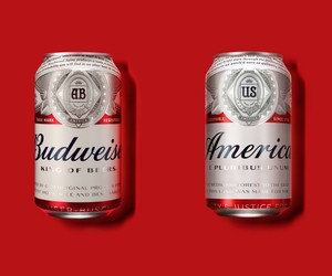 America Branded Budweiser Cans and Bottles