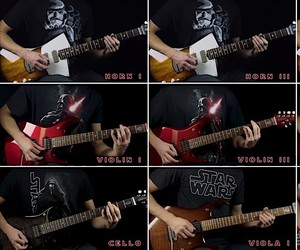 The Imperial March of Star Wars on electric guitar