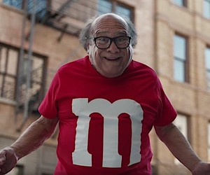 Danny DeVito as M&M for the Super Bowl
