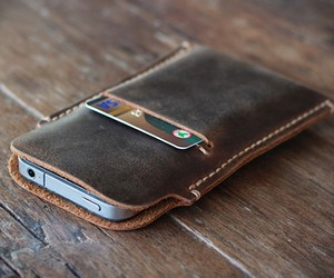 Distressed Leather iPhone Case