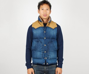 Rocky Mountain Featherbed Down Vest Denim Indigo