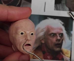 Miniature sculptures - this time Dr. Emmet Brown