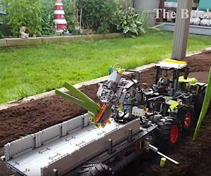 A  lego harvesting machine from The Brick Wall