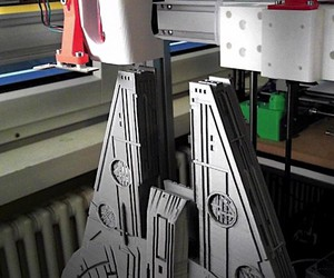 Millenium Falkon print by a 3D Printer
