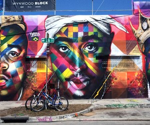 2Pac and Biggie Tribute Mural by Eduardo Kobra