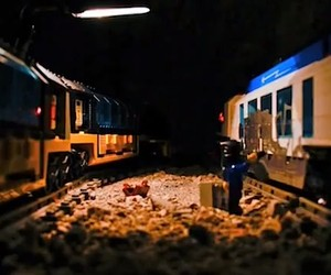 Lego Trainbombing // GRAFFITI