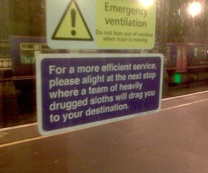 Busted London Underground Signs