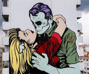 D*Face paints gigantic mural on a façade in Paris