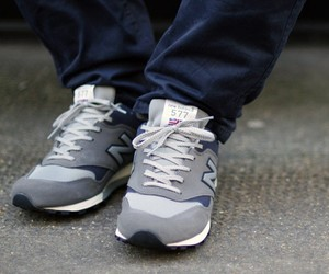 New Balance Grey M577GNA Trainers by Number Six